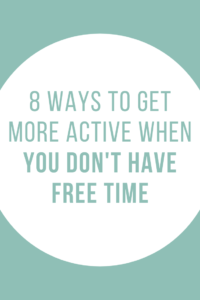 no time to be active