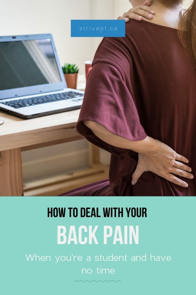back pain, student, university student, neck pain, pain when studying, scoliosis