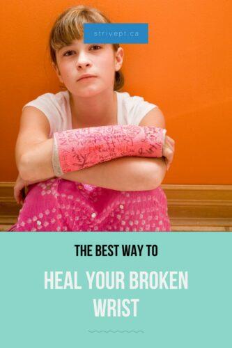 heal a broken wrist, scaphoid fracture, wrist fracture, distal radius fracture, colles fracture