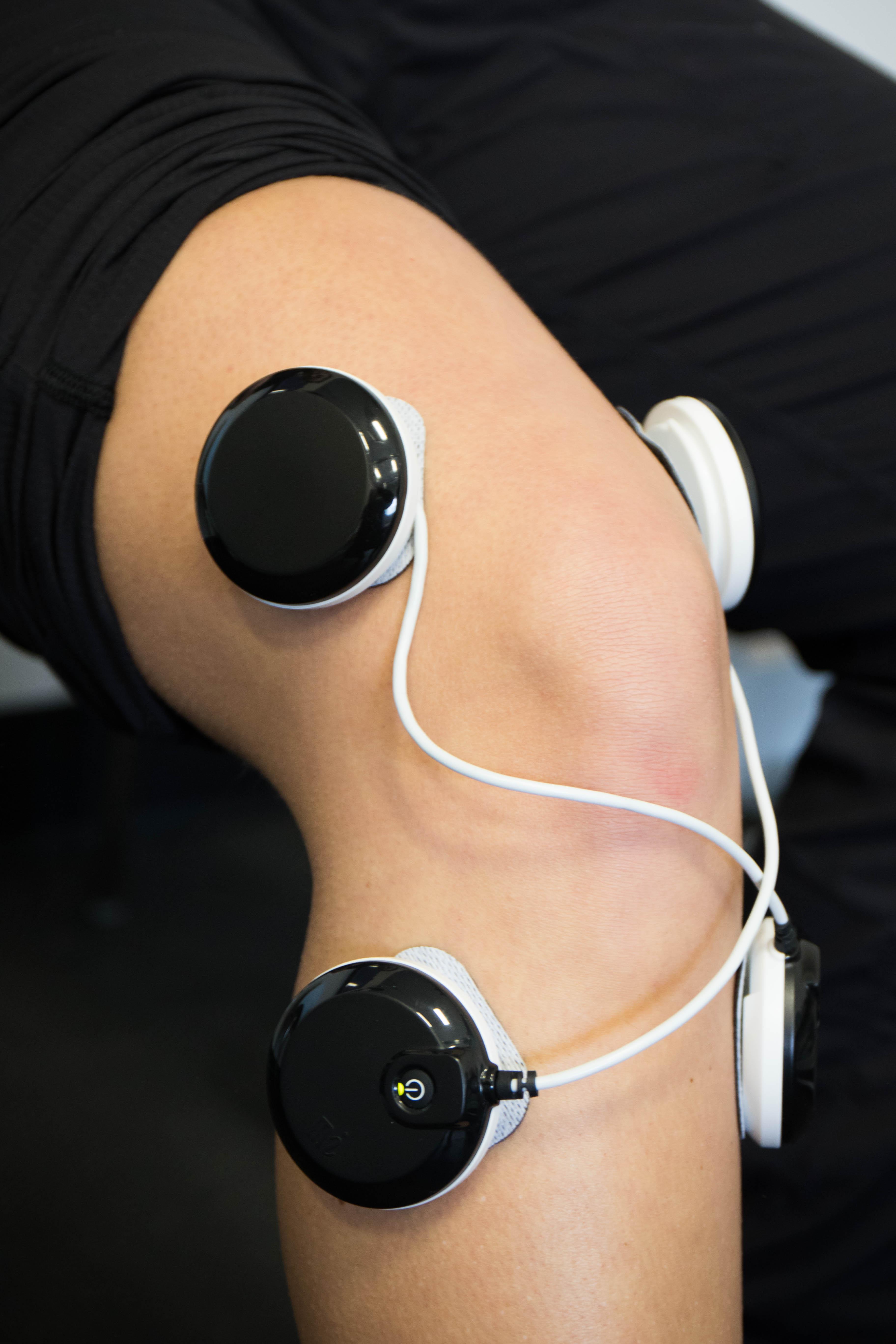 TENS unit on knee
