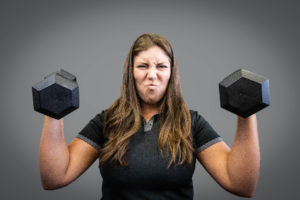 Dawn with two Dumbbells