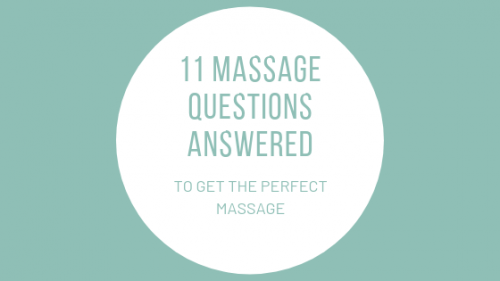 how to get the perfect massage