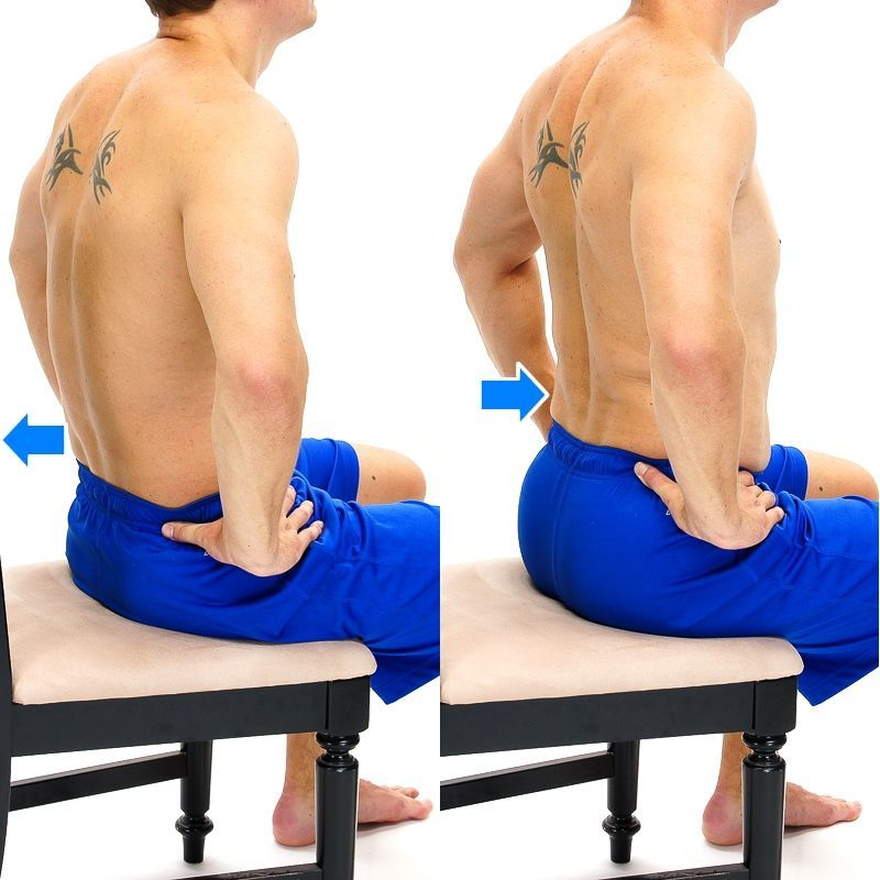 seated pelvic tilt